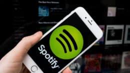 Spotify musik app på iPhone