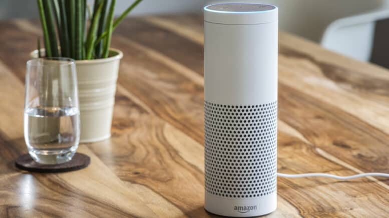 Amazon Echo Plus med Amazon Music Unlimited som er en Prime musik service