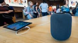 Apple Music på iPad med en Apple HomePod som afspiller