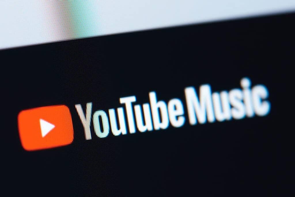 Youtube Music logo på skærm